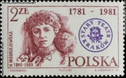 helana modrzejewska znaczek pocztowy