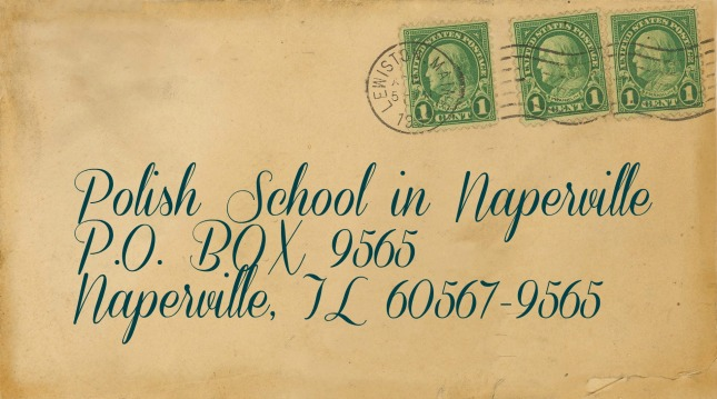 Vintage envelope with school address