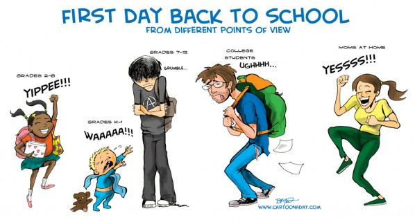 First Day of School back_to_school_family_cartoon