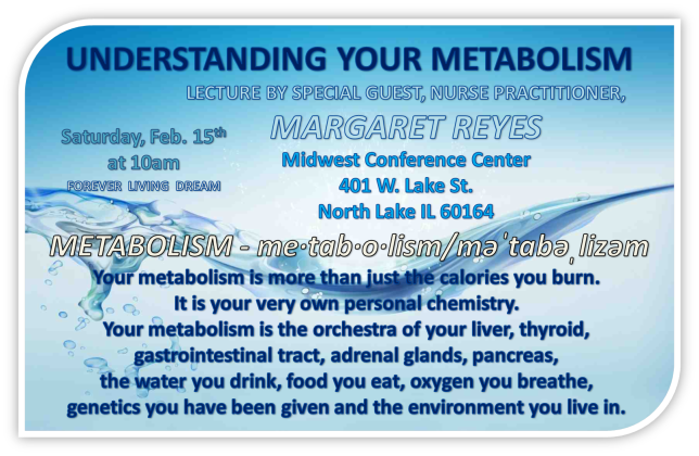 METABOLISM LECTURE