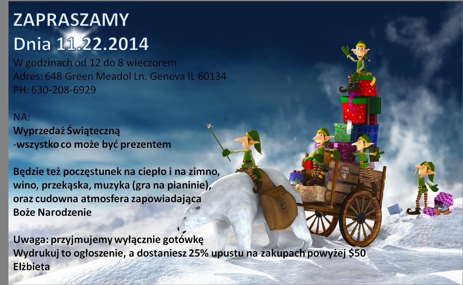 Listopad 2014 Polska Szkoła Im Heleny Modrzejewskiej W Naperville
