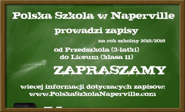 Polska Szkola w Naperville prowadzi zapisy