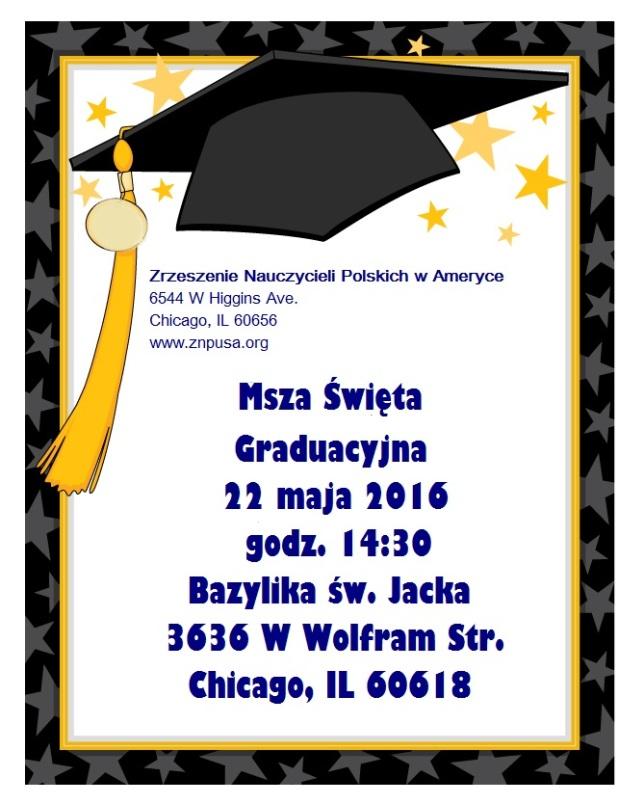 msza graduacyjna 2016